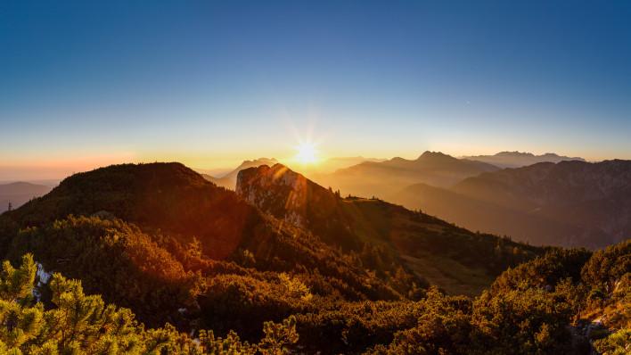 Hörndelwand Sonnenaufgang