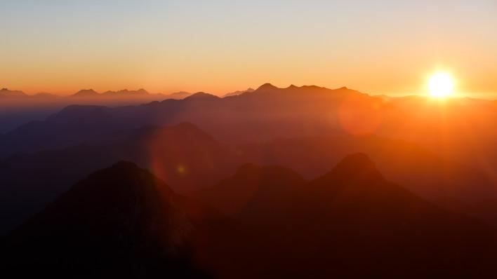 Sonnenuntergang vom Gurnwandkopf