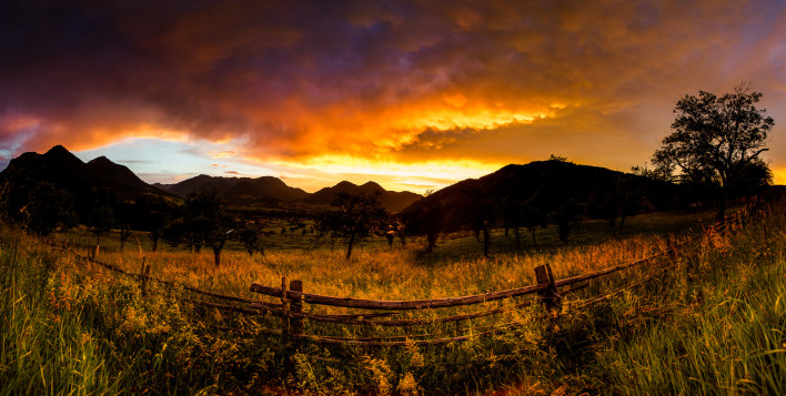 Ruhpolding Sonnenuntergang
